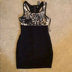Cheetah print black dress size 9